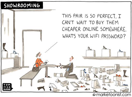 Brilliant cartoon on 'showrooming'